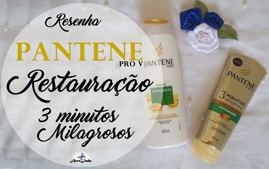 Resenha Pantene Restauração 3 Minutos Milagrosos