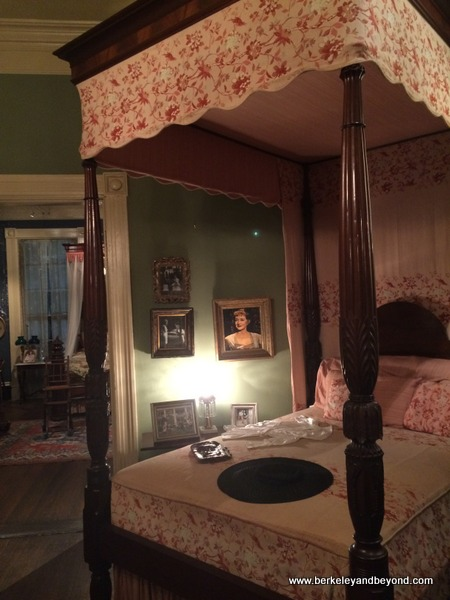 the Bette Davis bed at Houmas House Plantation and Gardens in Darrow, Louisiana