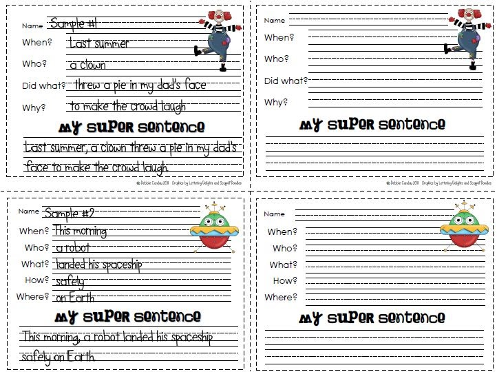 Sailing Through 1st Grade Super Sentences