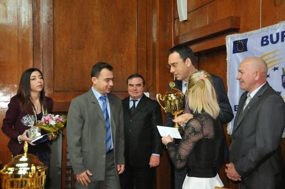 Стефан Колев, треньора на Камелия Колева и кмета на Бургас Димитър Николов