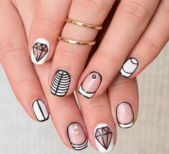 unique Literal Manicure ideas for bridal 2016
