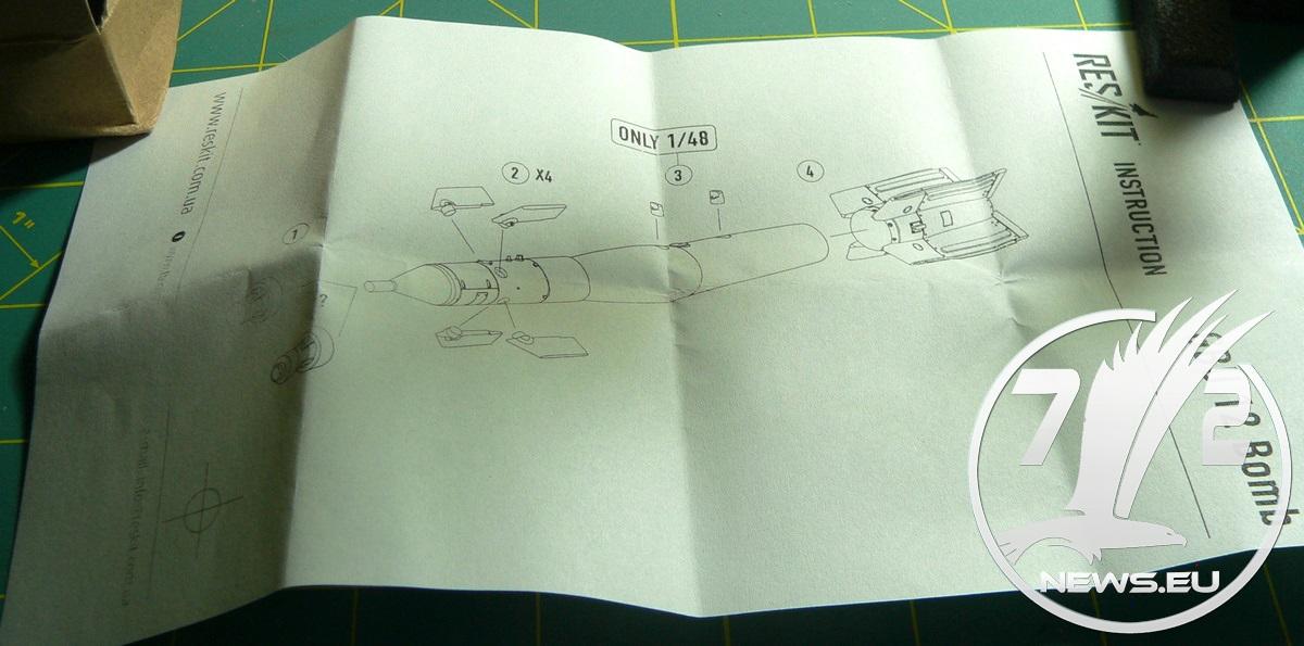 Res-Kit:  ☰GBU-12 ☰ laser guided bomb #resinSet #inbox