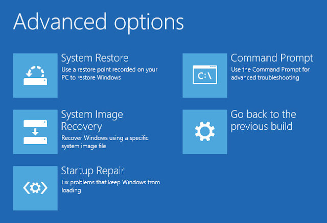 Memperbaiki Masalah Bootloader di Windows - advanced options version win 8 and 10