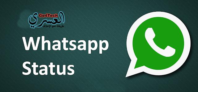 تحميل Status WhatsApp دون الحاجة لأي تطبيق، فقط عبر التطبيق الرسمي للواتس اب !