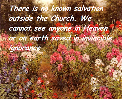Image result for Photos of outside the Church there is no salvation