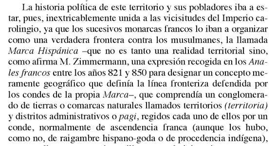 """Lo que les jode a los catalanistas es que se le llamara al territorio """"Marca Hispánica"""" mucho antes que Cataluña."""