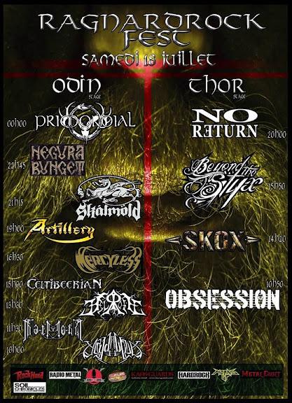 Ragnard Rock Fest 2015 running order @Simandre-sur-Suran 18/07/2015