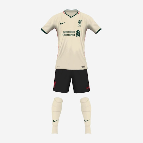 Using Leaked Colors: Liverpool 20-21 Concept Home & Away Kits - Footy Headlines