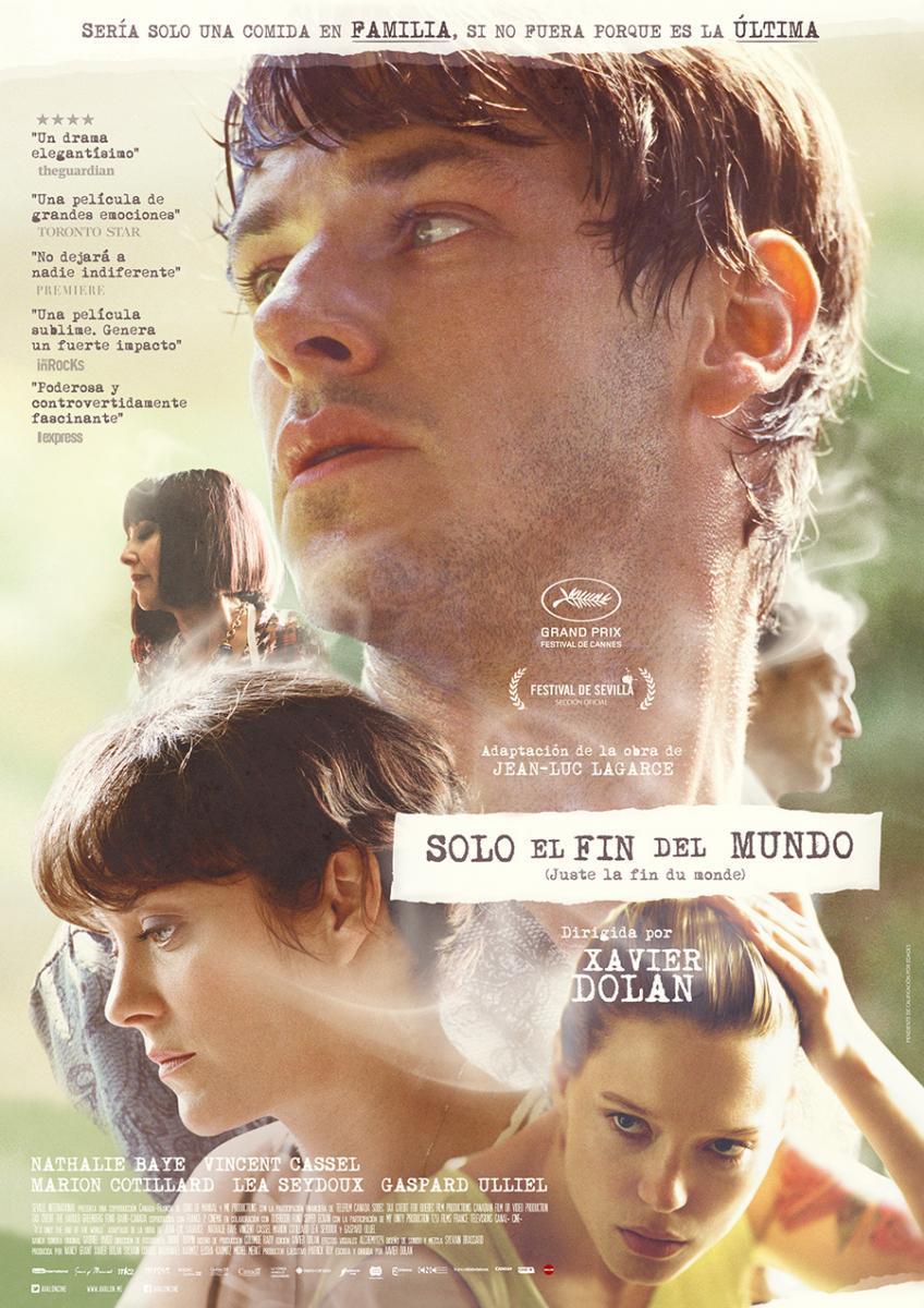 'Solo el fin del mundo' de Xavier Dolan - Poster España