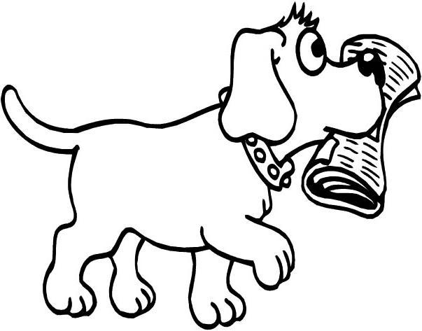 Desenhos Para Pintar E Imprimir Desenho De Cachorro Carregando