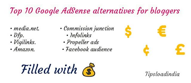 Google AdSense alternatives, top 10 Google AdSense alternatives,best Google AdSense alternatives