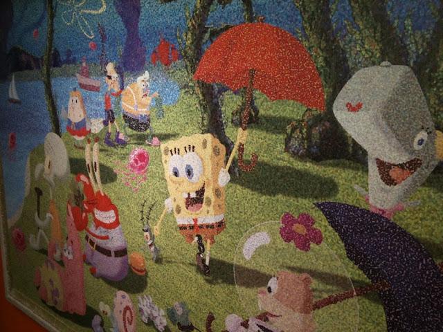 Bob Esponja Sonriente: Cuadros De Bob Esponja (Bob Art Expo) En Barcelona