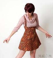 jupe salopette taille haute créateur