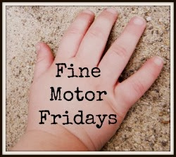 Fine Motor Fridays at And Next Comes L