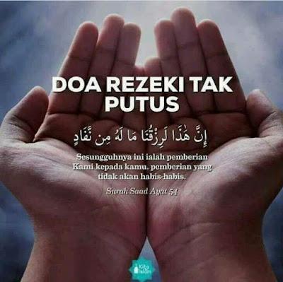 Doa Rezeki Tak Putus