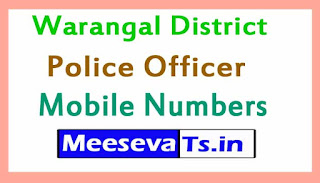 Warangal District Police Officer Numbers List Telangan State