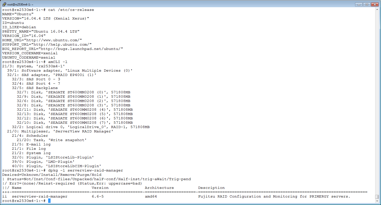 Masa's blog: Fujitsu ServerView RAID Manager 6 6 5 for Ubuntu