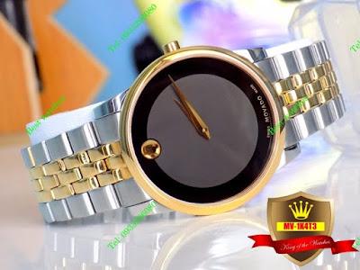 Đồng hồ nam dây inox trắng MV 1K4T3