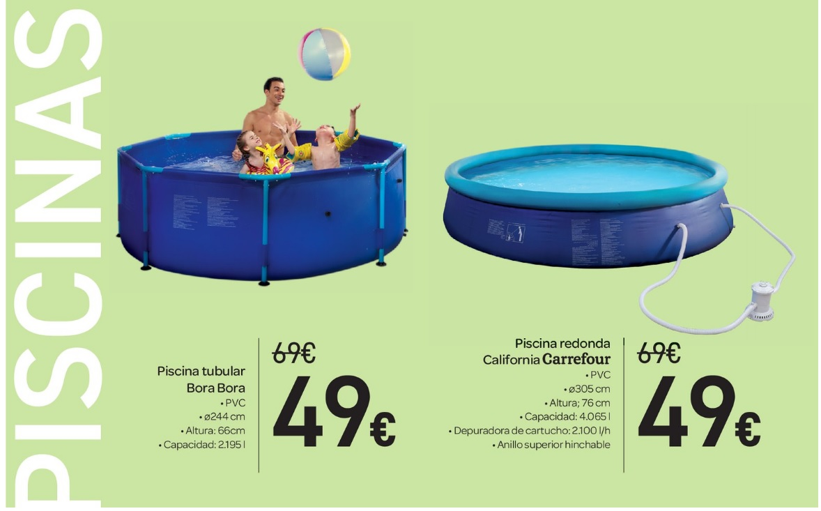 Carrefour catalogo carrefour piscinas 2017 for Piscinas de plastico precios carrefour