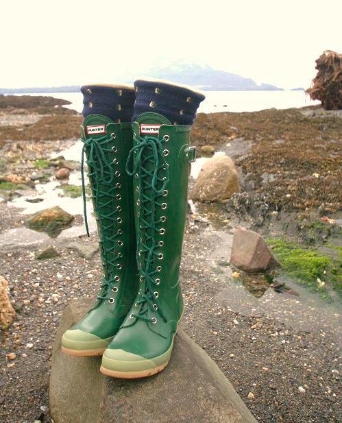Teal Hunter Rain Boots