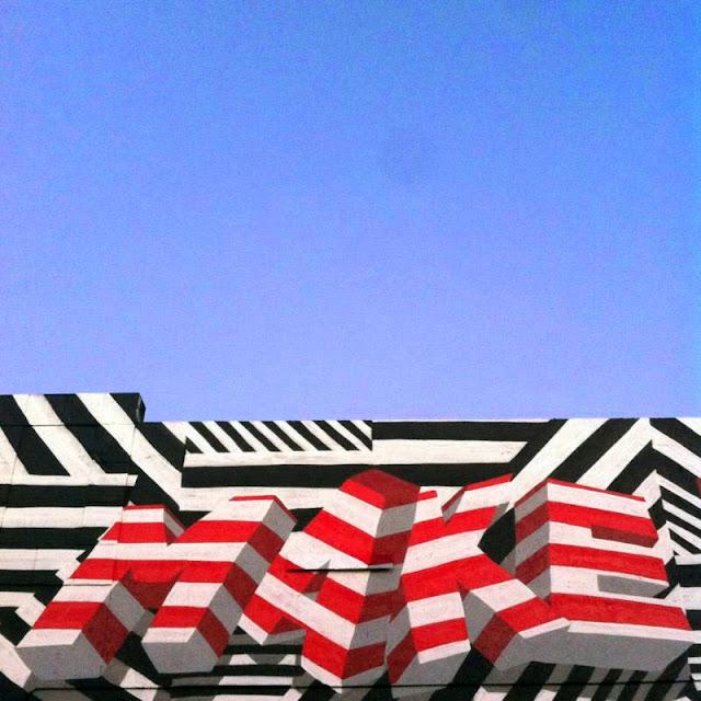"""Make Your Own Way"" New Street Art Piece by British Urban Artist INSA for Art Basel Miami 2013. 3"