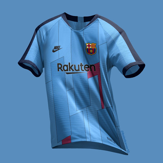 87176486802 This picture shows the Barcelona 2019-2020 third jersey as imagined by  @bolotkanov10.