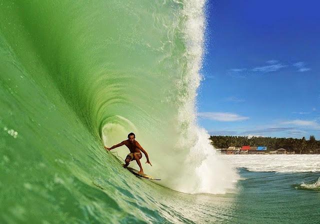 Challenging Waves Beach Lagundri in Nias Island
