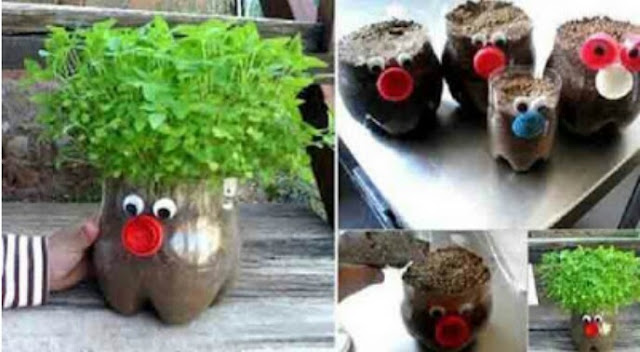 How to make a flower pot from a plastic bottle