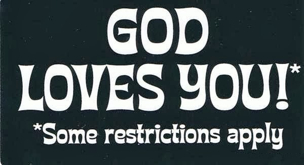 Funny God Loves You Some Restrictions Apply Picture