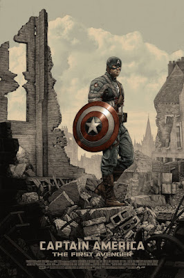 San Diego Comic-Con 2016 Exclusive Captain America The First Avenger Marvel Screen Print by Rory Kurtz x Mondo