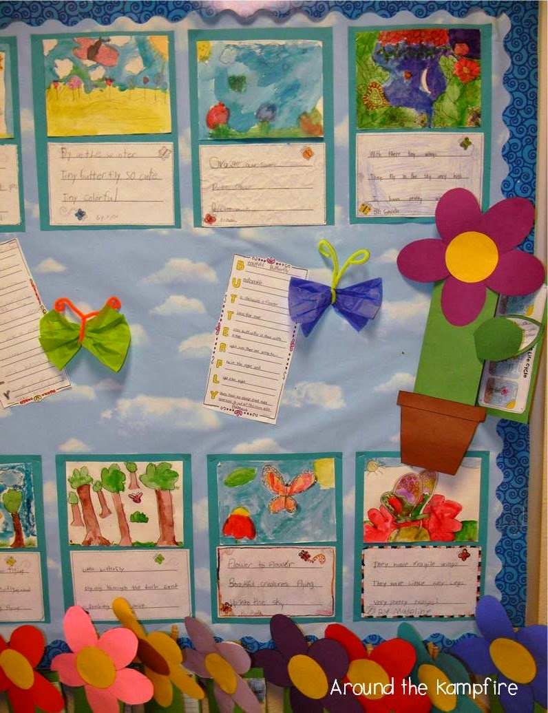 Butterfly poetry and plant life cycle flower foldable