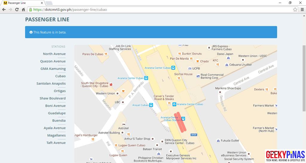 DOTC MRT3 Passenger Queue Monitoring System Desktop View