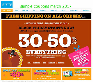 Childrens Place coupons for march 2017
