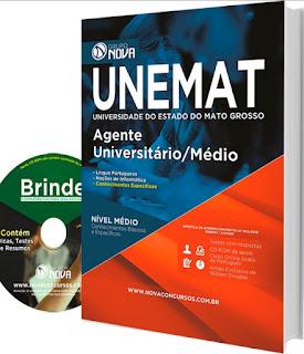 Apostilas UNEMAT - Universidade do Mato Grosso Agente Universitário (2016)