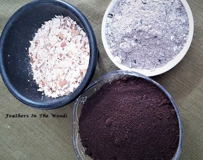 coffee grounds, wood ash & eggshells for the garden