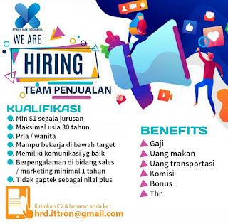 Info Lowongan Kerja Sales PT. Min Max Surabaya
