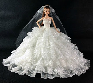 Barbie dress up wedding Dress