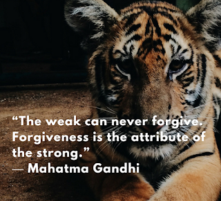 Mahatma Gandhi, quote, forgiveness