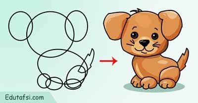Tutorial menggambar kartun anjing untuk pemula