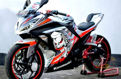Gambar Modifikasi Motor Kawasaki Ninja 250 Yang Bagus Terbaru