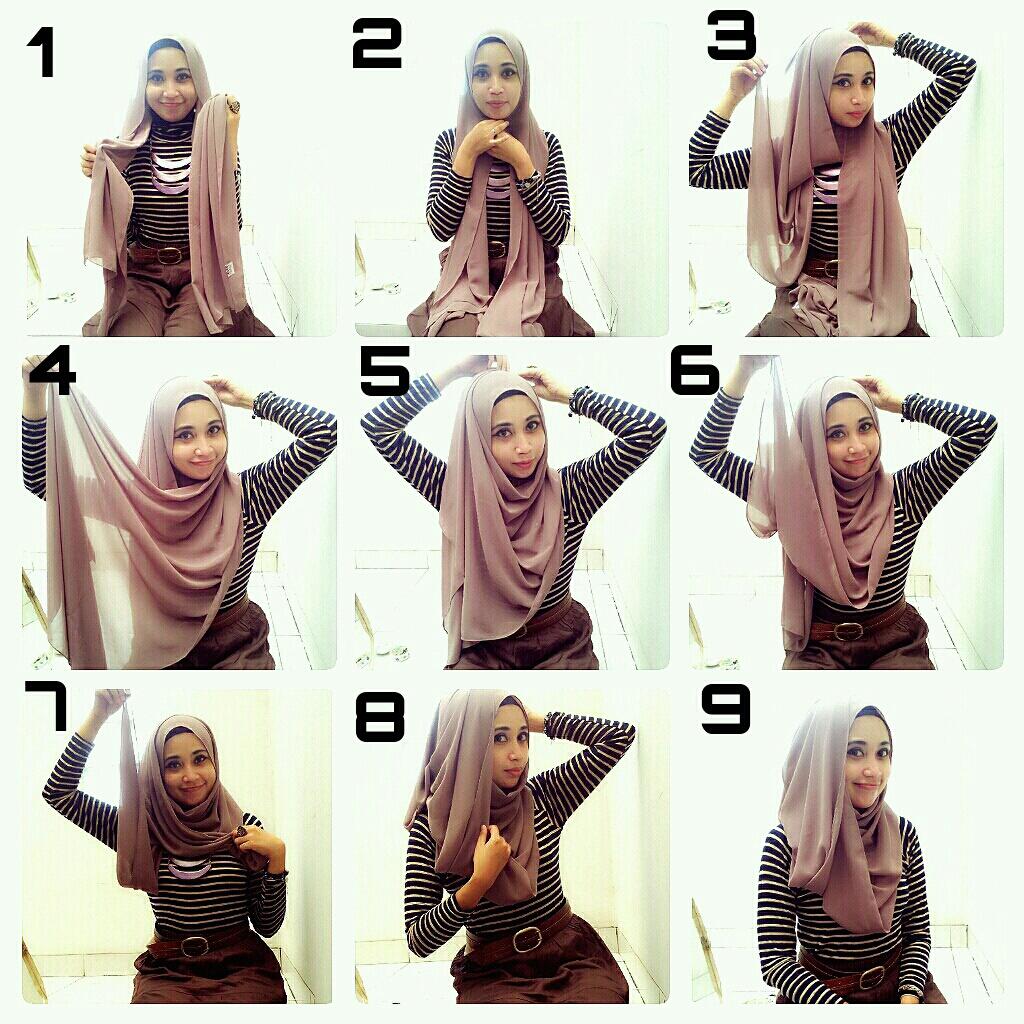 Lebih Elegan Dengan Tutorial Hijab Pashmina Sifon Terbaru