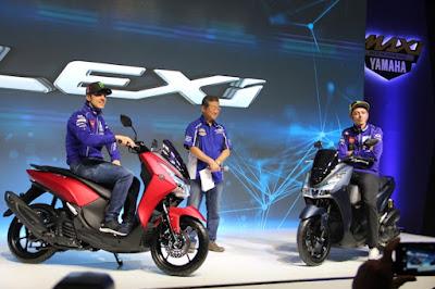 Rossi dan Vinales Launching Yamaha Lexi di Jakarta