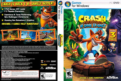 Jogo Crash Bandicoot N. Sane Trilogy PC DVD Capa