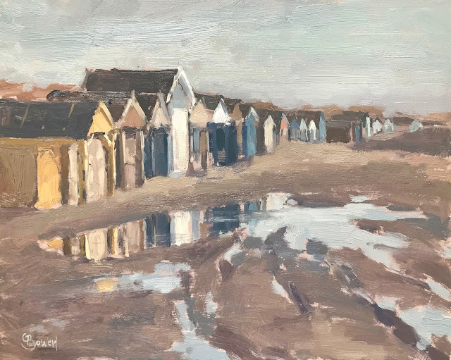 #284 'Beach Huts, West Wittering' 8×10″