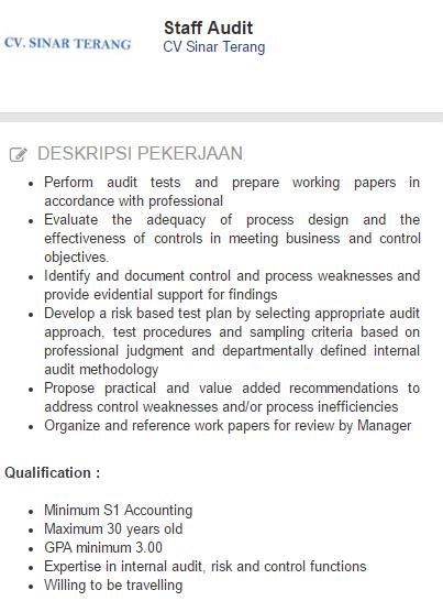 Lowongan kerja CV Sinar Terang Jombang Terbaru 2019