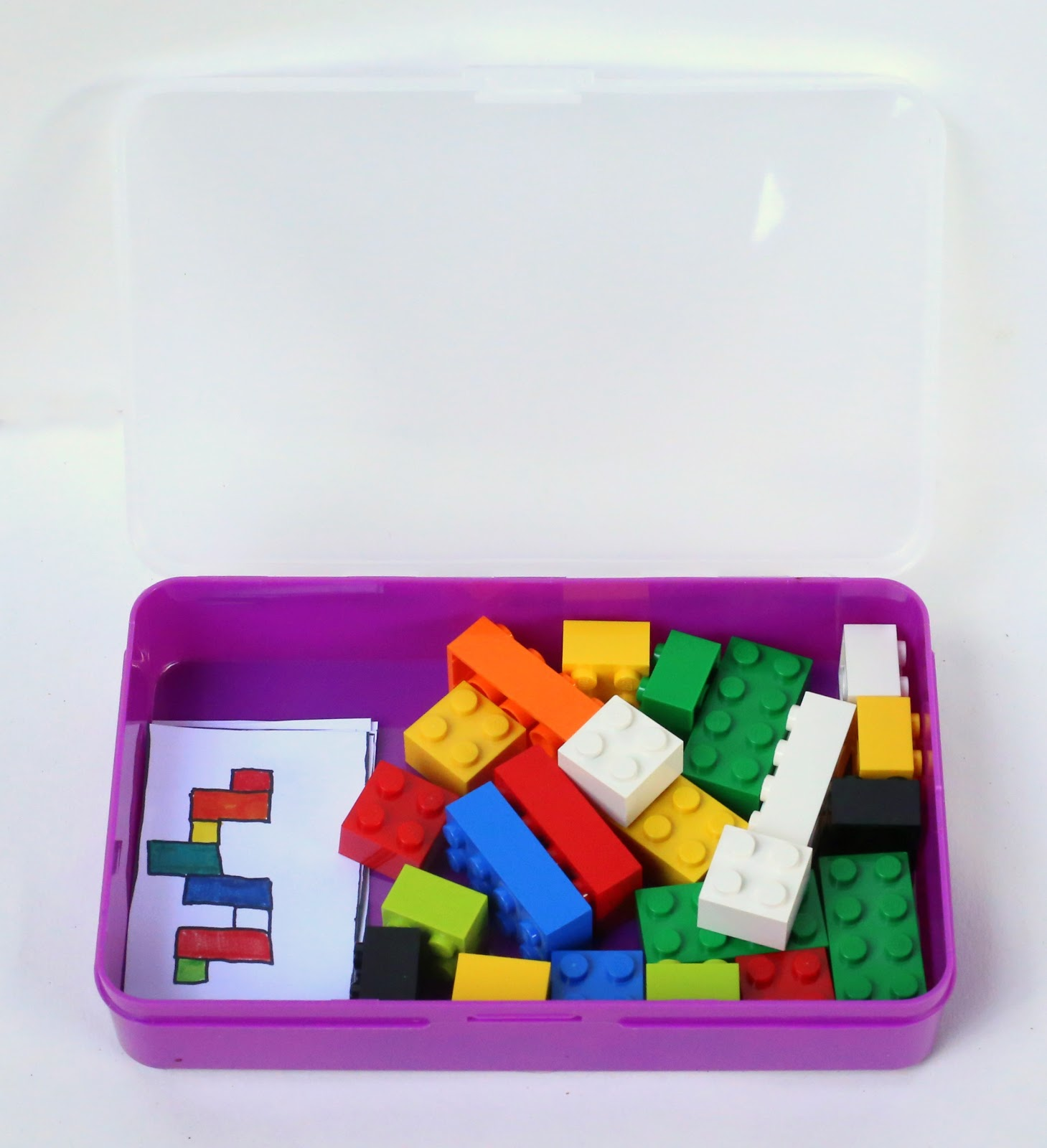 diy portable lego kit with 24 free printable activity cards from fun at home with kids