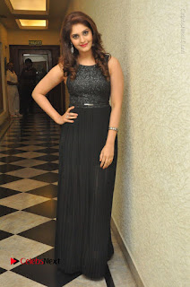 Actress Surabhi Stills in Black Long Dress at turodu Audio Launch  0125.JPG