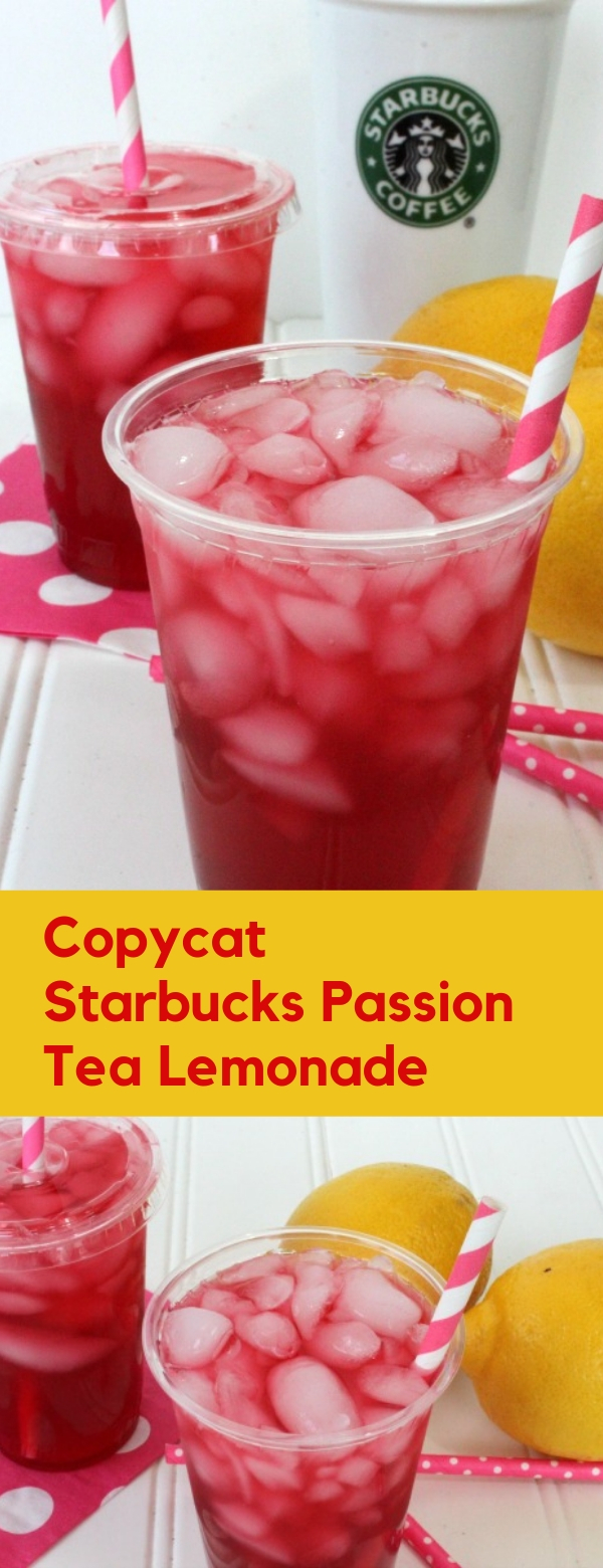 Copycat Starbucks Passion Tea Lemonade Recipe #FRESHDRINK