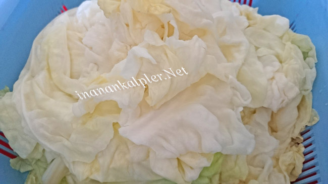 Haşlanmış Beyaz Lahana