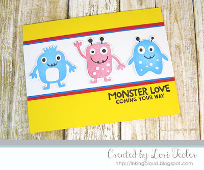 Monster Love card-designed by Lori Tecler/Inking Aloud-stamps and dies from My Favorite Things